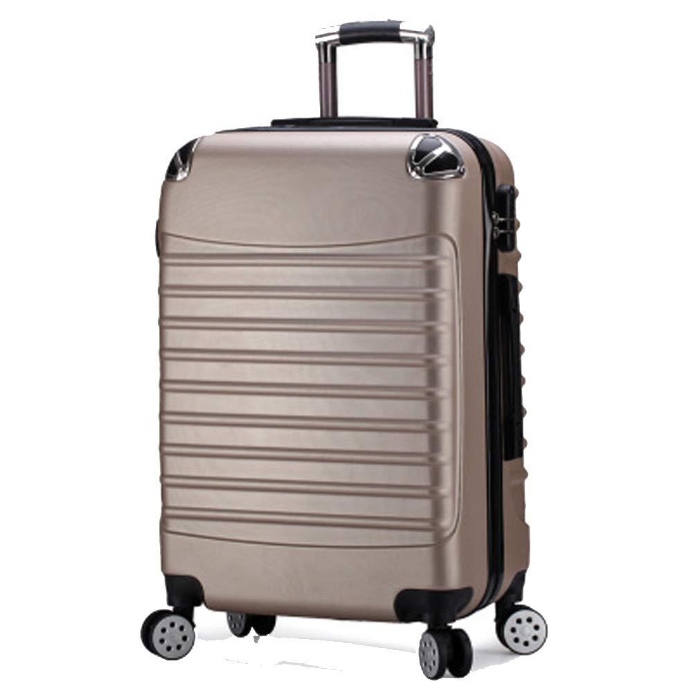 荷物のジッパー、トロリー箱、旅行箱、普遍的な車輪ロック箱、トロリー箱、 Medium gold B07QVQ8GLV