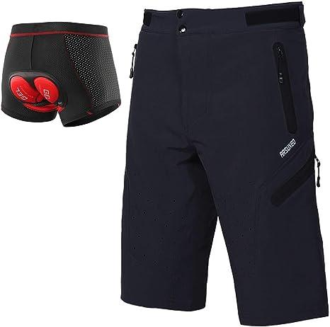 Pantalones Cortos De Bicicleta De Montaña Hombre, Ropa Interior De ...