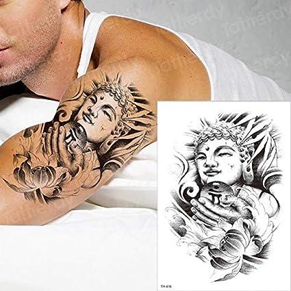 HXMAN León Temporal Tatuaje Hombre Brazo Cuerpo Cuerpo Tragar ...