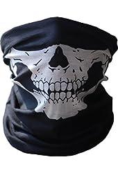 Angelia Call of Duty Black Skull Face Tube Mask Neck Gaiter Dust Shield Seamless Bandana Balaclava