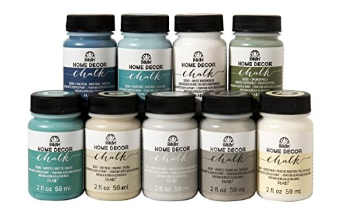 Distressed Paint Finish - FolkArt Home Décor Chalk Finish Paint Set (2 Ounce), PROMOFAHDC, Top Colors