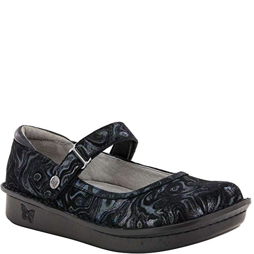 Alegria Women's Belle Mary Jane Flat, Slickery, Size 37 M EU