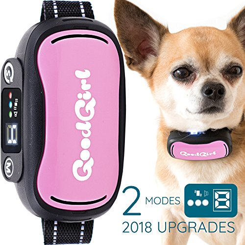 Deluxe Anti Bark Spray - GoodBoy No Bark Collar For Small To Medium Dogs by â Waterproof Anti Bark Training Collar - Best Selling On Amazon â Safe, No Shock Design With No Spiky Prongs â Updated LCD Display (7+ lbs)