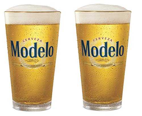 Modelo Especial Gold Rimmed Pint Glass - Set of 2