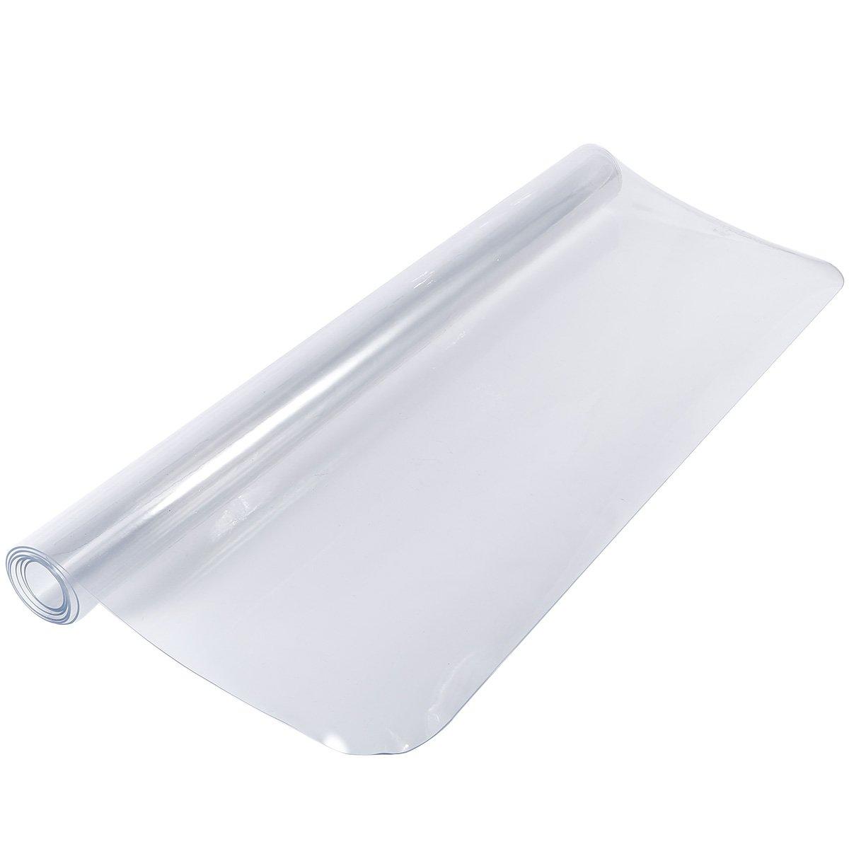 Anladia - Tappetino protettivo in PVC, trasparente, da 1,2m, antiscivolo, per ufficio, sedia o scrivania, 90 x 120 x 0.15cm