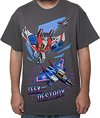80sTees Men's Transformers Starscream Seek and Destroy Shirt