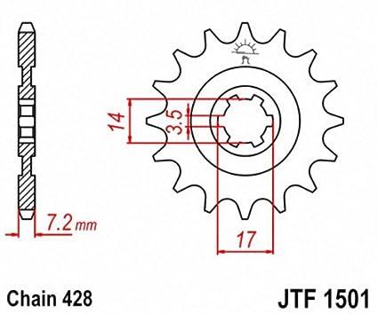 JT Sprockets JTF1501.13 13T Steel Front Sprocket