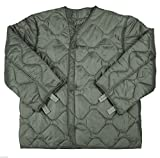 quilted army jacket - New Made in USA Army Military M65 Field Jacket Quilted Foliage Green Coat Liner M-65 XL X-Large