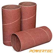 POWERTEC 11214 4-1/2-Inch x 2-Inch 120 Grit Sanding Sleeves, 3-Pack