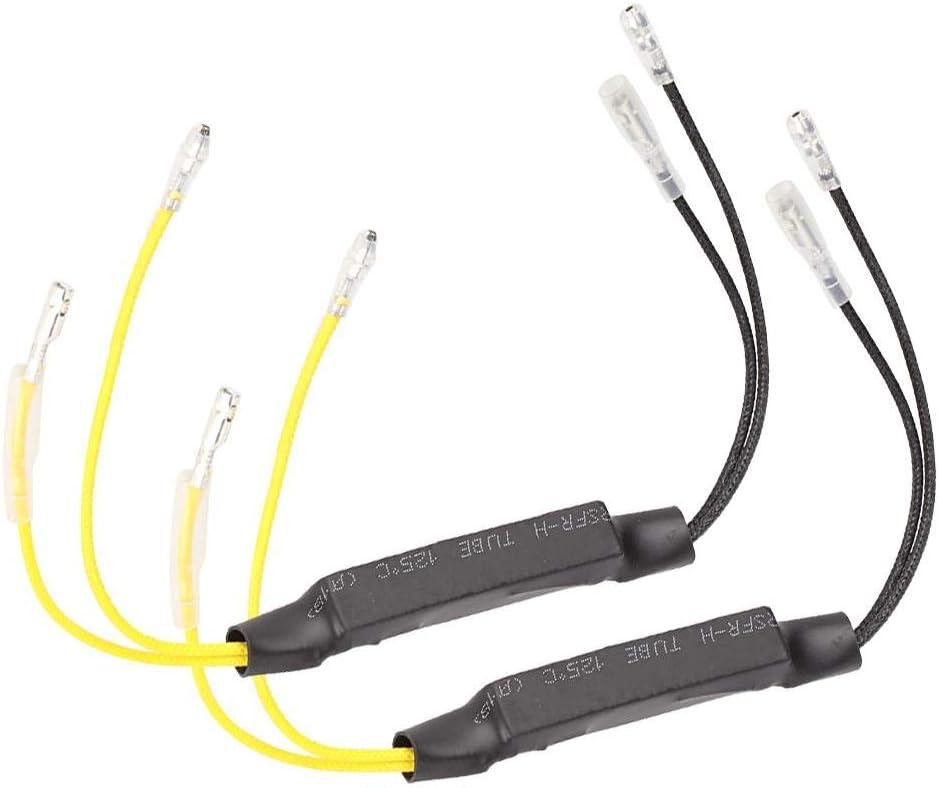 Yctze D/écodeur de Clignotant Moto 1 Paire de Moto 21W LED indicateur r/ésistance d/écodeur de Clignotant pour Utilisation de la Moto