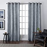 Exclusive Home Finesse Window Curtain Panel Pair with Grommet Top 54×84 Steel Blue 2 Piece