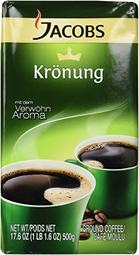 Jacobs Kronung Ground Coffee, Pack of 2- 17.6ounces  (packing may vary)