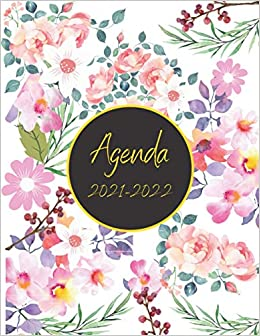 Calendrier Journalier 2022 Agenda 2021 2022 Journalier A4: Calendrier Planificateur 2021 Rose