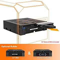 """If you're seeking a compact rack with versatility and functionality, we have a convenient enclosure just for you. The ExpressCage MB322SP-B is a mobile rack that converts a 5.25"""" device bay to fit two 2.5"""" SATA/SAS HDD/SSD (7mm-9.5mm), and in..."""