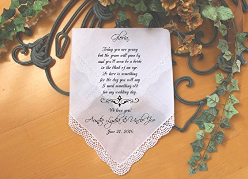 Flower Girl Handkerchief, Custom PRINTED wedding Handkerchief, Today you are YOUNG but the YEARS will pass, Personalized. LS5FCAC by -