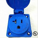 Waterproof Panel Mount,Generator NEMA 5-20 Socket & Receptacle,20A 125V,Grouding (ETA:7-12 WORK DAYS)