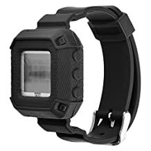 Budesi Polar FT4 or FT7 Heart Rate Monitor Accessories - Silicone Bracelete Strap Replacement Bands with Secure Fasteners Metal Clasps for Polar FT4 or FT7 Heart Rate Monitor Tracker