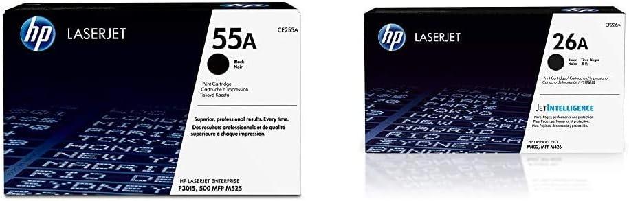 HP 55A   CE255A   Toner Cartridge   Black & 26A   CF226A   Toner Cartridge   Black