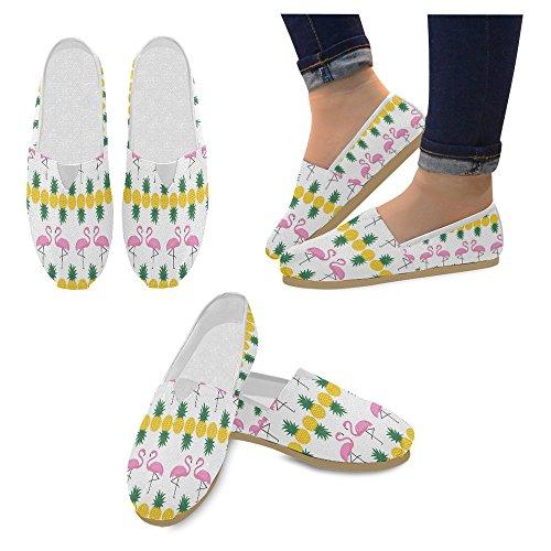 Mocassini Da Donna Di Interestprint Classico Su Tela Casual Slip On Scarpe Moda Scarpe Da Ginnastica Di Flamingo Ananas