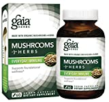 Gaia Herbs Mushrooms + Herbs Everyday Immune, Vegan Liquid Capsules, 60 Count - Whole Body Immune and Daily Wellness Formula, Organic Reishi, Cordyceps, Turmeric (Curcumins), Astragalus