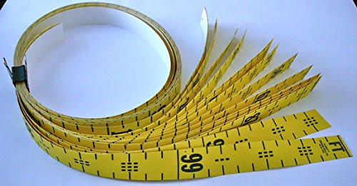 "(Floor Tape – Adhesive Backed – 2 Inch Wide X 100 Foot Long – Vertical Up – Fractional – 1"" Grads – Yellow – 16 Pieces)"