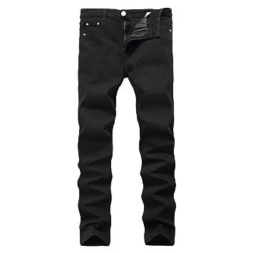 Zxllyntop Jeans de Hombre Pantalones de Mezclilla Ajustados ...