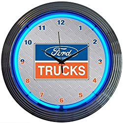 Neonetics Ford Trucks Neon Wall Clock, 15-Inch