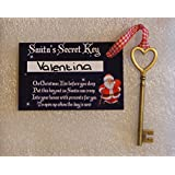 PERSONALISED SANTAS SECRET KEY - VINTAGE ANTIQUE KEY by Santas Attic T/A GPG Ltd