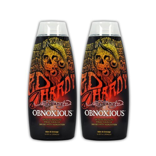 Lot 2 Ed Hardy Obnoxious Indoor Tanning Lotion Accelerator Bronzer