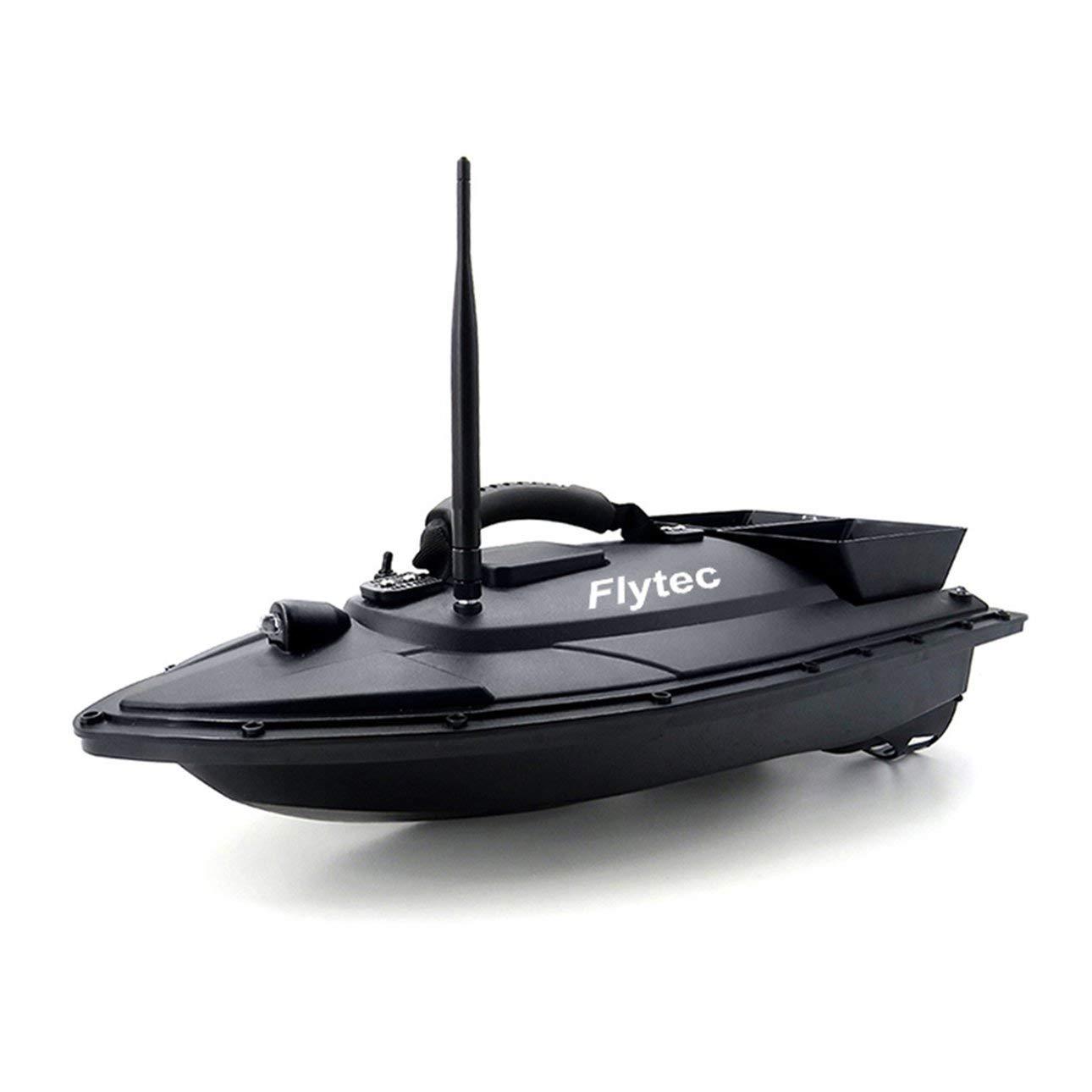Ballylelly RC Boat Flytec 2011-5 Strumento di Pesca Smart RC Boat Toy Dual Motor Fish Finder Fish Boat (Nero)