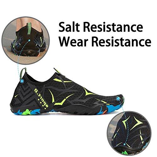 para la de la de Calcetines de Descalzo Shoes Skin Resaca la Verde Yoga de Nadada acuático Playa Aqua Saguaro Patrón Fw7aYxvf