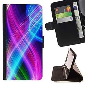 Momo Phone Case / Flip Funda de Cuero Case Cover - Resumen de color Espirales - Samsung Galaxy A5 ( A5000 ) 2014 Version