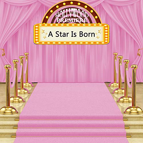 MTMETY 7x7ft Hollywood Premiere Pink Carpet Background A New Star Born Theme Party Customized Background Photo Booth Studio Props HXME295