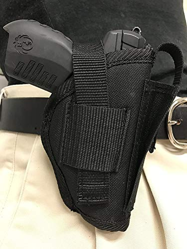 Bama Belts and Leathers Gun Holster fits Sig Sauer P365 Nitron Micro-Compact Black Nylon Ambidextrous Built in Magazine Holder Adjustable Retention Strap