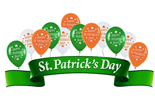 [USA-SALES] St. Patrick's Day Balloons Qty. 20, Premium Quality, Assorted Colors, by Usa-Sales Seller