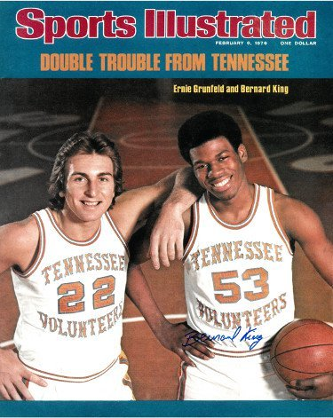 Sports Illustrated Magazine - Double Trouble From Tennesse - Ernie Grunfeld and Bernard King [February 9, 1976]
