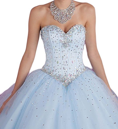 Women's Long Gown Style1 gold with Dresses Sequins Prom Sweetheart Crystal Beilite Quinceanera SqCwdS