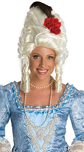 Marie Antoinette Wig with Red Rose Costume Accessory (Marie Antionette Wigs)