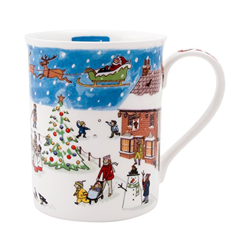 Alison Gardiner Famous Illustrator - Fine Bone China Coffee Cup and Tea Mug - Christmas with Premium Quality and Detail