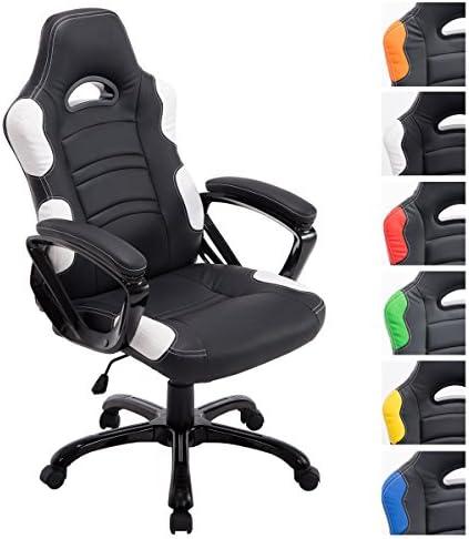 Chaise en BureauGamer CLP De Similicuir NoirBlanc Design Fauteuil Bureau Ricardo Pivotante Ergonomique Réglable De Hauteur I en shdtQr