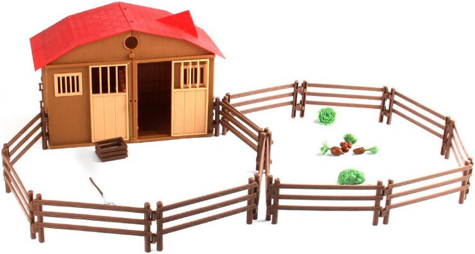 Bomcomi Simulación del Juego Granja Modelo Figuras Cabaña para niños Juguetes Aves Escena Animal Farmer Actor Jugador