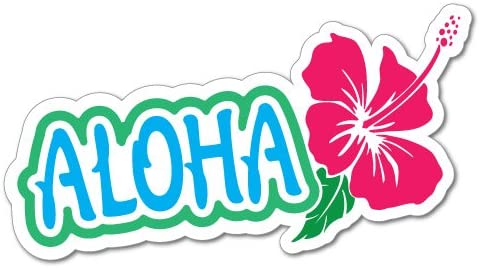 Aloha Hibiscus Sticker Decal Stickers Pet Art Laptop Auto