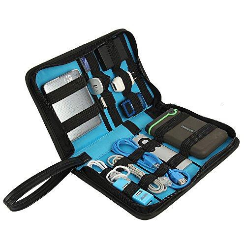 Khanka Universal Electronics Accessories Carrying Travel Organizer / Hard Drive Case Bag / Power Bank / Memory Card / Cable organizer (Medium) by Khanka (Image #3)