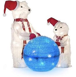 dermapad prelit playing polar bears outdoor christmas decoration set of 3