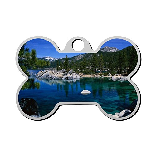 Chenricer Lake Tahoe Dog Tag Pet ID Tags Bone Shaped for sale  Delivered anywhere in USA