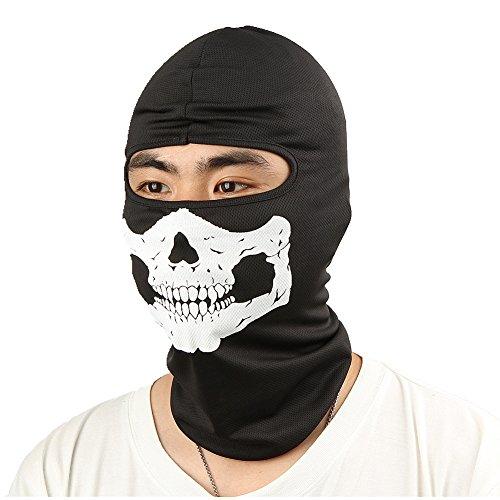 WHATWEARS Ghost Biker Skull Hood Face Mask Motorcycle Ski Balaclava CS Sports Helmet