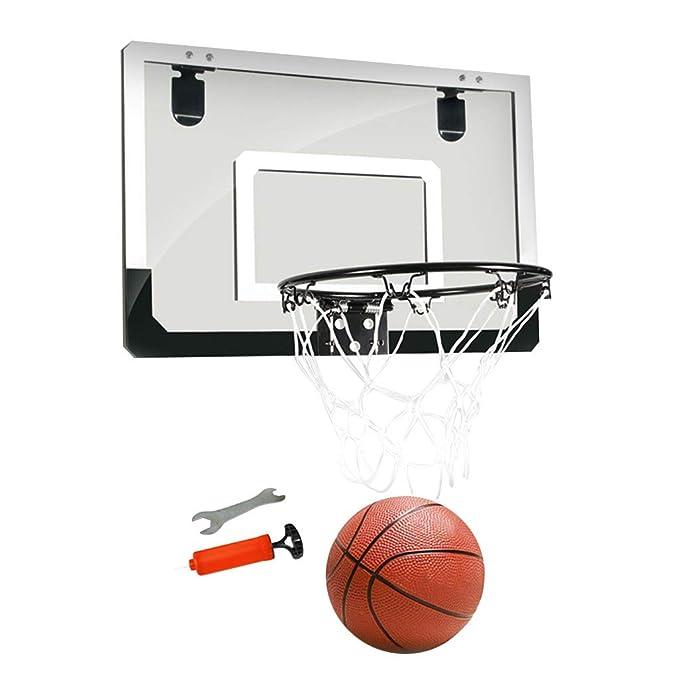 Lukame - Juego de minicanasta de baloncesto pequeño, transparente ...