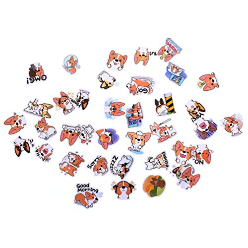 Cute Corgi Stickers Dog Expression Diary Scrapbooking Labels Decorative Tag - Dog Tags Scrapbooking