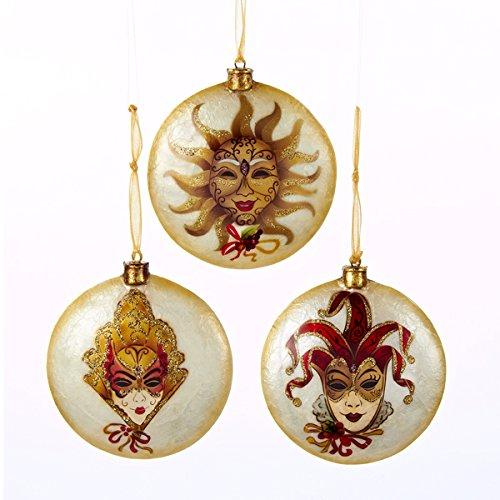 Venetian Mask W/head Flat Disc Ornaments