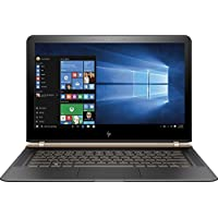 HP Spectre 13-V111DX 13.3 FHD IPS Laptop - Intel Core i7-7500U, 256GB SSD, 8GB DDR3L, Windows 10 - Black/Copper (Certified Refurbished)